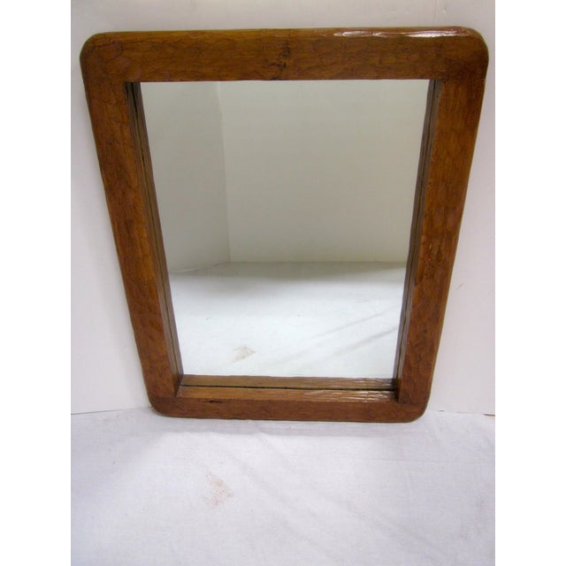 Rustic Carved Wooden Mirror - Image 5 of 10