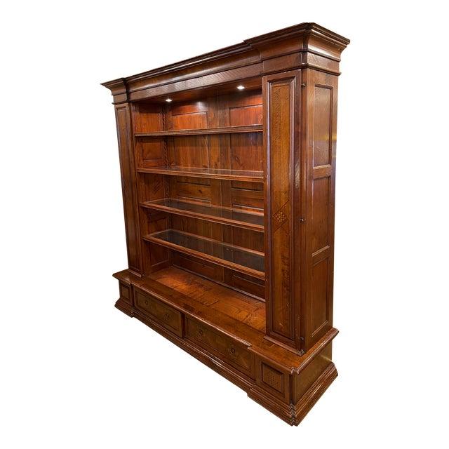 Antique Spanish Colonial Style Artitalia - Libreria Dama Open Bookcase For Sale