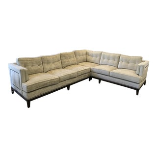Vanguard Beige Chenille Sectional For Sale