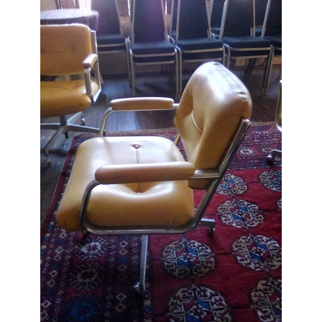 1960 Vintage Yellow Captain Chairs - Set of 8 For Sale - Image 4 of 7