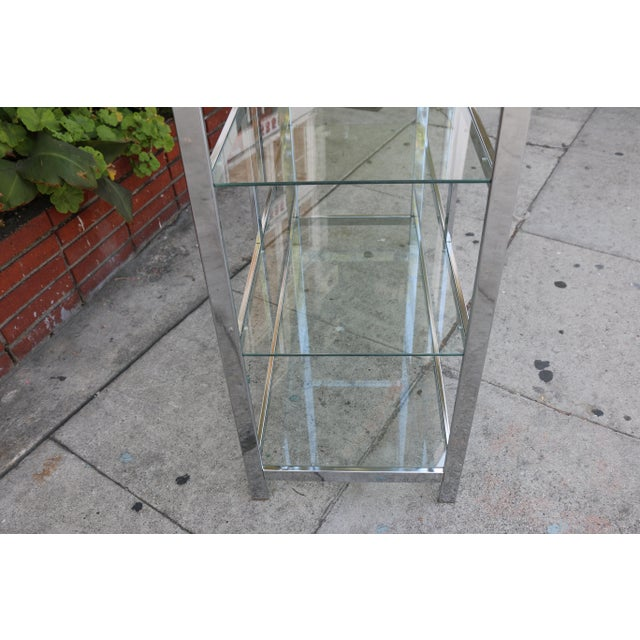 Chrome Modern Etagere For Sale In Los Angeles - Image 6 of 11