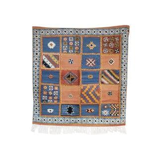 """GLAOUI Vintage Moroccan Rug, 3'7"""" x 3'9"""" feet / 110 x 114 cm"""