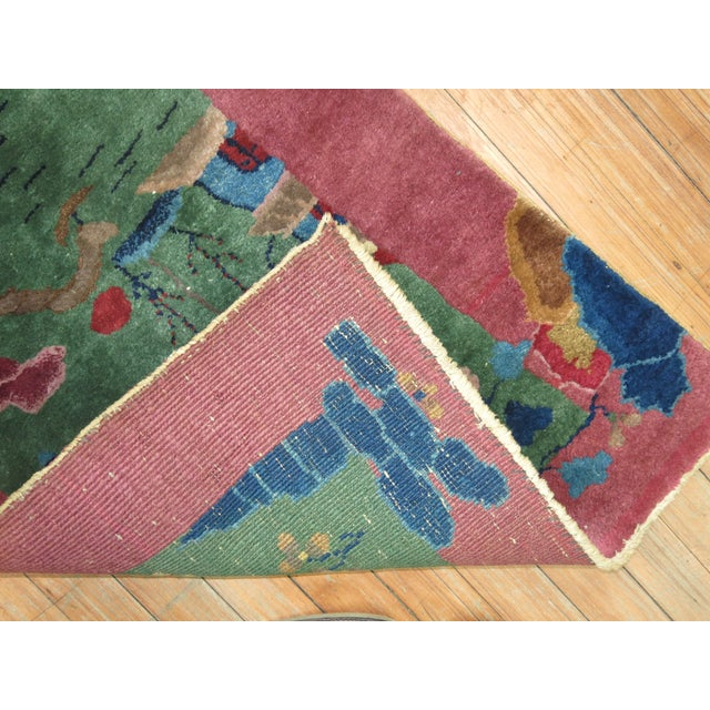 Textile Chinese Art Deco Rug, 2'1'' x 3'10'' For Sale - Image 7 of 8