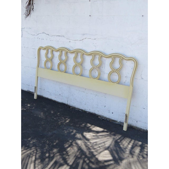 White French King Size Painted Headboard For Sale - Image 8 of 11