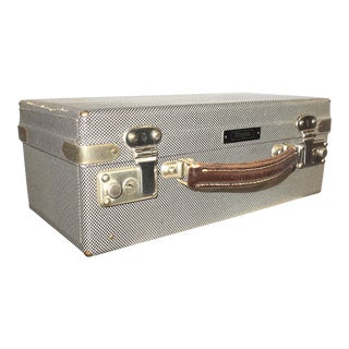 Cinema Lens & Equipment Carry Case. Vintage Circa 1950s. Patterned Canvas Over Wood. For Sale
