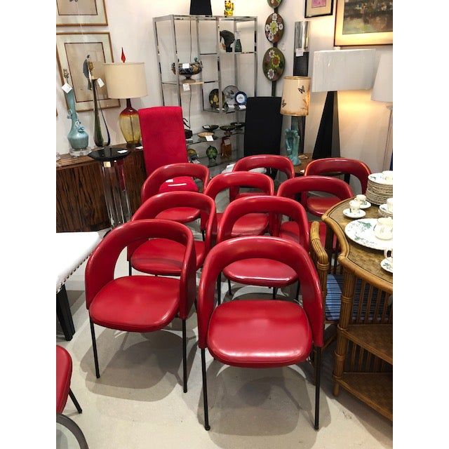 Black Mid Century Chairs Attributed to Gastone Renaldi for Rima For Sale - Image 8 of 10