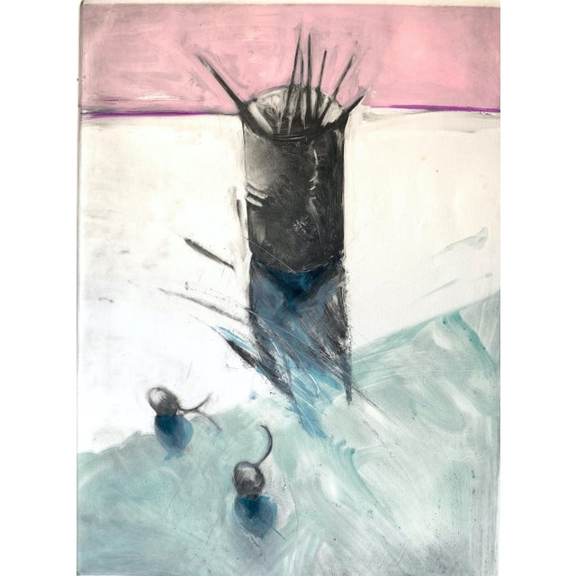 """1982 Monotype """"Cup of Brushes"""" Bay Area Female Artist For Sale - Image 4 of 5"""