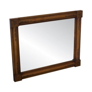 Hitchcock Stenciled Maple Rectangular Wall Mirror For Sale