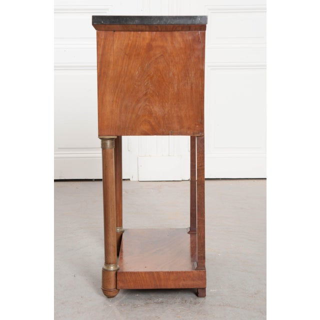 Metal 20th Century French Empire Style Mahogany Bedside Table For Sale - Image 7 of 9