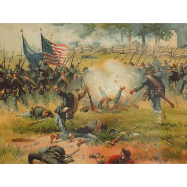 Early American 1887 Antietam Chromolithograph For Sale - Image 3 of 7