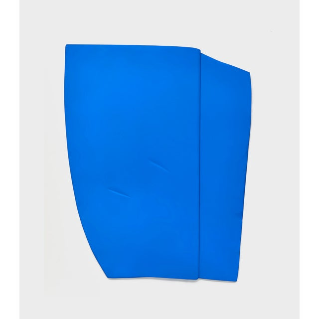 """2010s Jaena Kwon """"Bluepoint"""" Minimal Abstract Colorful Acrylic Shapes Artwork in Frame For Sale - Image 5 of 5"""