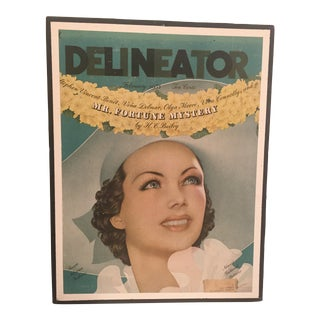1935 Vintage Delineator Magazine Cover For Sale