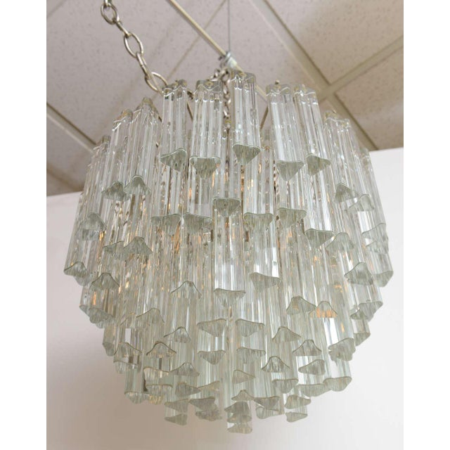 1960s Mid-Century Modern Lush Camer Glass Chandelier For Sale - Image 10 of 11