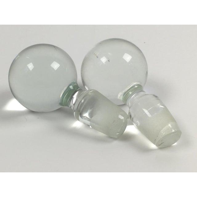 Danish Modern Holmegaard Glass Decanter Set - Pair - Image 5 of 6