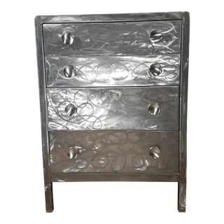 Simmons Company Furniture Brushed Steel Chest Of Drawers For Sale