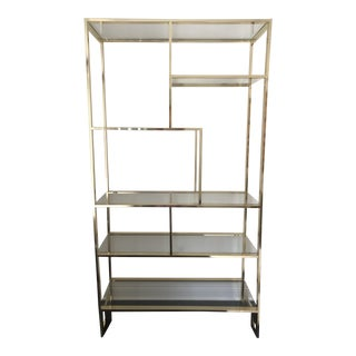Milo Baughman Brass and Glass Etagere For Sale