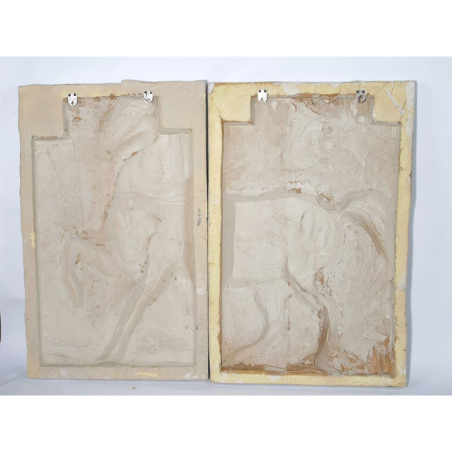 White Fiberglass Horse Wall Art Pieces - A Pair - Image 6 of 7