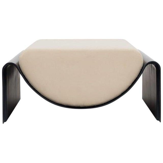 Minimalist Asa Pingree Eclipse Fiberglass Upholstered Ottoman For Sale - Image 9 of 9
