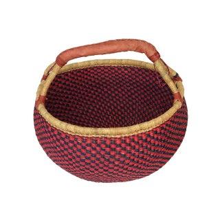 Large African Bolga Ghana Market Basket - For Sale