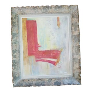 Framed Abstract Painting by R. Bou