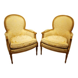 Sherrill French Ladies Arm Chairs - A Pair