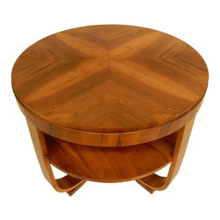 1930s Art Deco Walnut Side Table For Sale