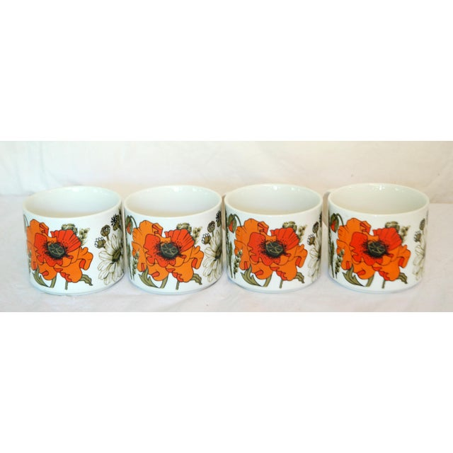 Boho Chic J & G Meakin Poppies Teapot & Cups For Sale - Image 3 of 4