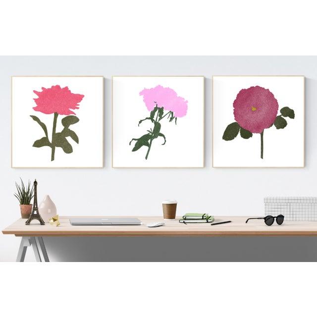"Jessica Poundstone Boho Chic Flora Print #1 - 20""x20"" - Image 2 of 3"