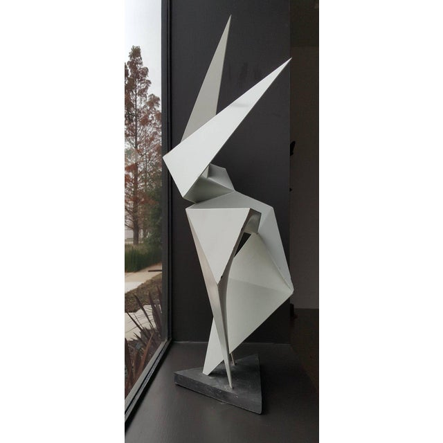 Lacquer Vintage Abstract Origami Sculpture by Artist Edward D Hart For Sale - Image 7 of 11