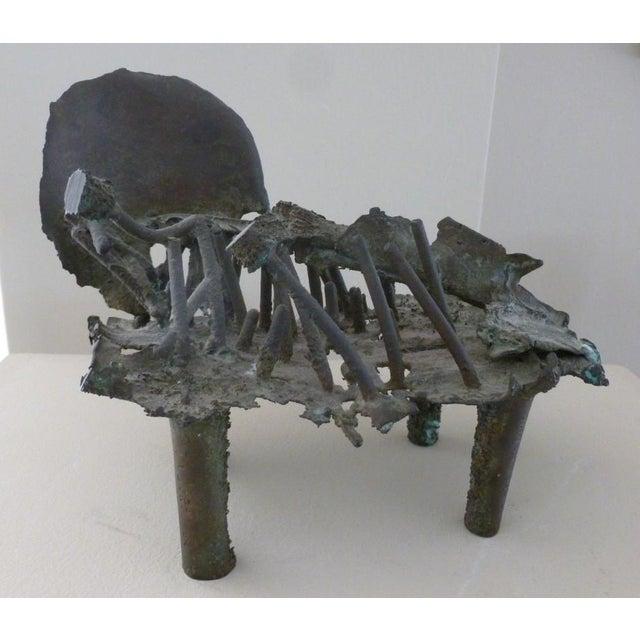 Fine Early Rare Bronze Modernist Sculpture by Shinkichi Tajiri sold as found in good condition. In 1942, Tajiri's family...