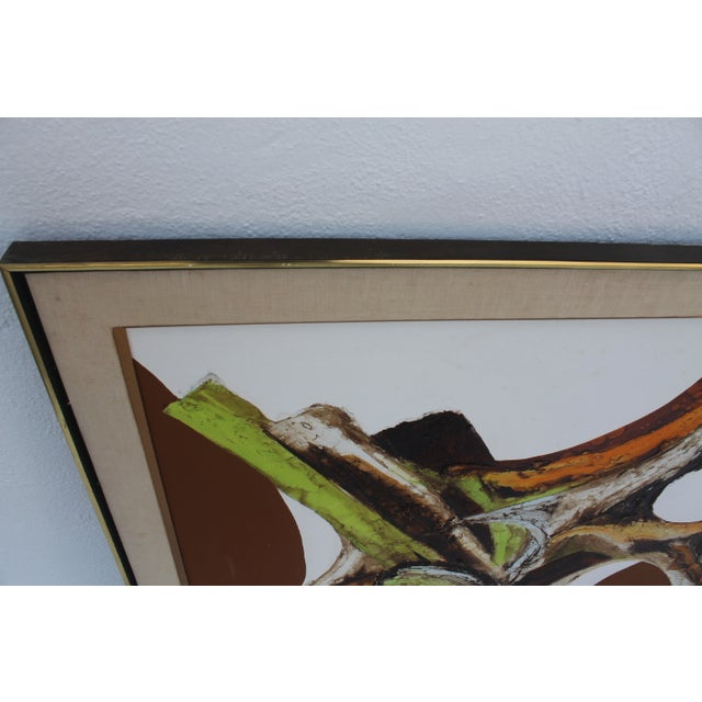 A- Large Vintage Expressionist Abstract Painting - Image 7 of 11