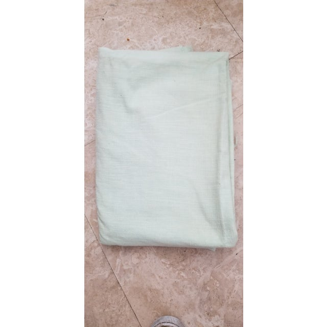 Pale Green Linen Vintage Fabric For Sale - Image 9 of 9