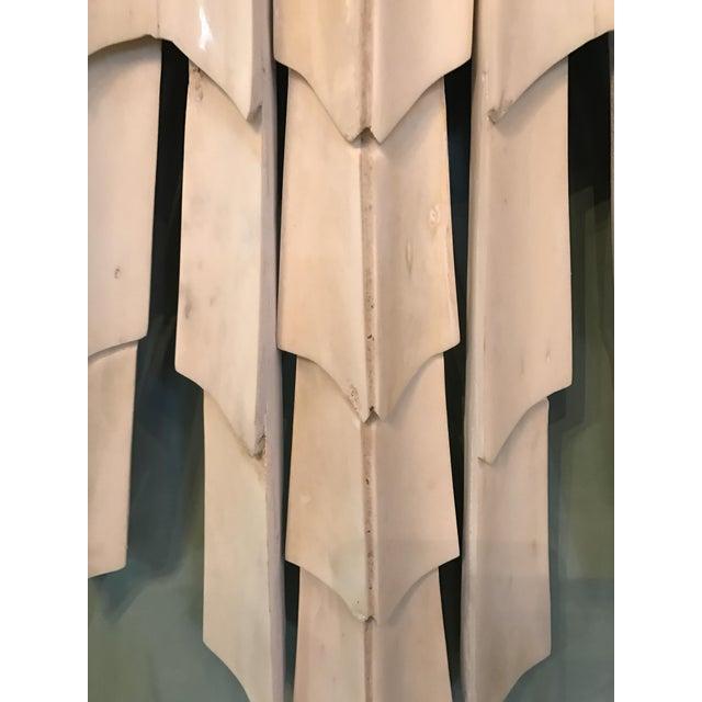 Italian Bone Sunburst Mirror with Convex Glass - Image 6 of 6