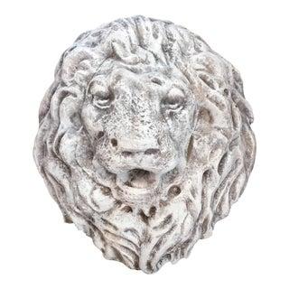 Antique Terra Cotta Lion Head Wall Fountain