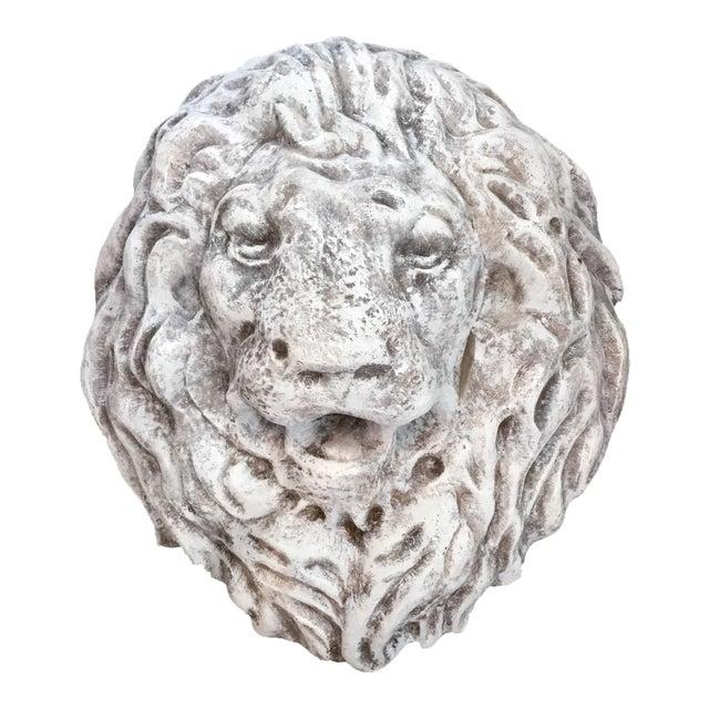 Antique Terra Cotta Lion Head Wall Fountain For Sale