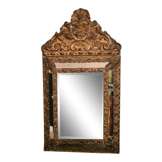 Repoussé Napoleon III France Wall Mirror For Sale