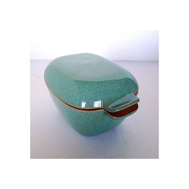 Glidden Antique Matrix Turquoise Casserole Dish For Sale - Image 5 of 9