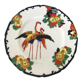 Royal Doulton Design Robert Allen Mandarin Ware Bone China Flamingo Motif Plate For Sale