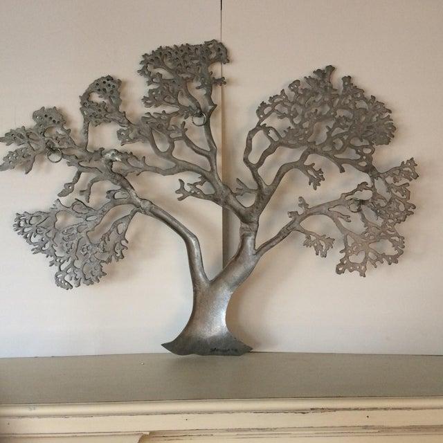 Mid-Century Industrial Aluminum Tree of Life - Image 5 of 11