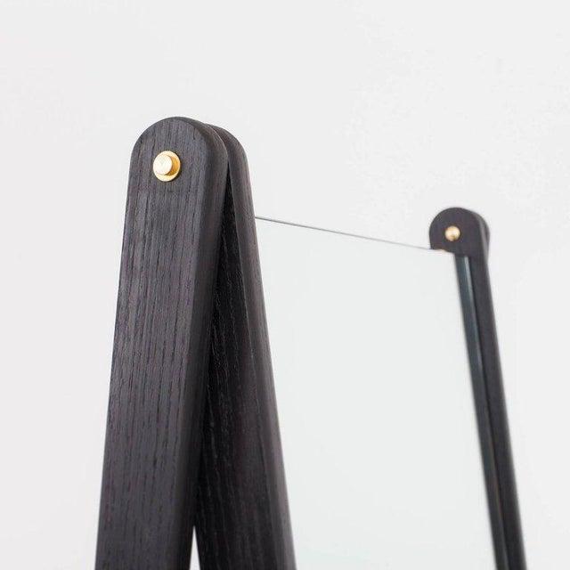 Asa Pingree Asa Pingree Libertine Full Length Mirror in Ebonized Oak For Sale - Image 4 of 9