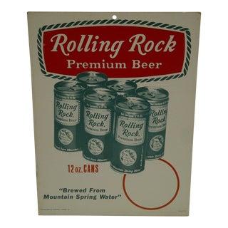 Vintage Rolling Rock Beer Advertising Sign For Sale