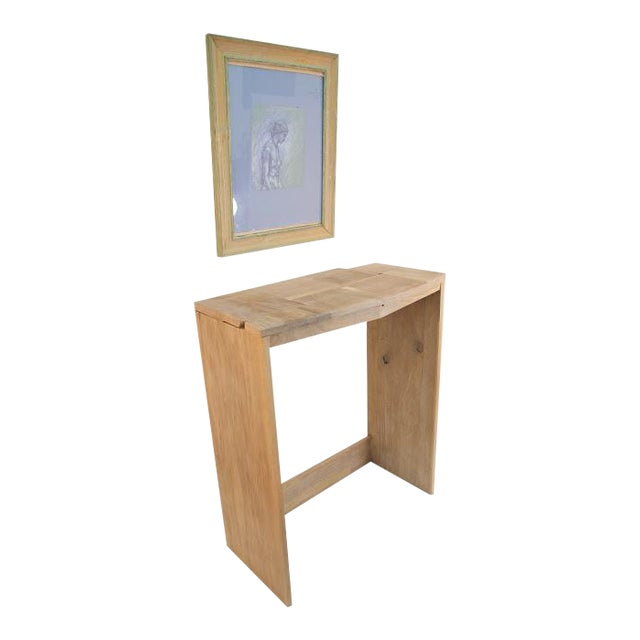 Contemporary Fashion Inspired Walnut Console Table For Sale