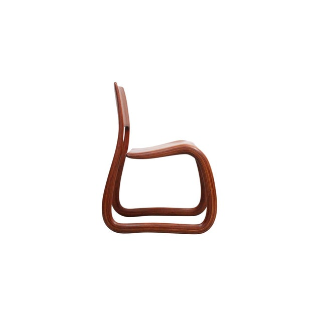 Sculptural Walnut Chair by David Flatt For Sale In Boston - Image 6 of 13