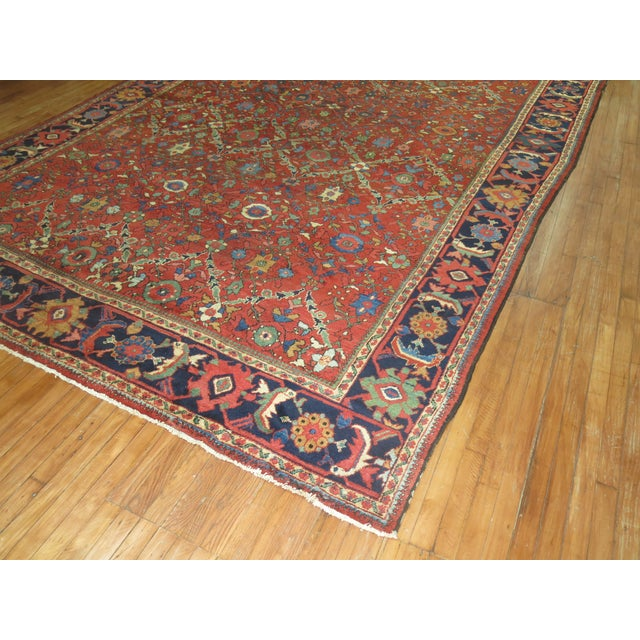 "Antique Persian Mahal Rug - 9'2"" X 13' For Sale - Image 7 of 7"