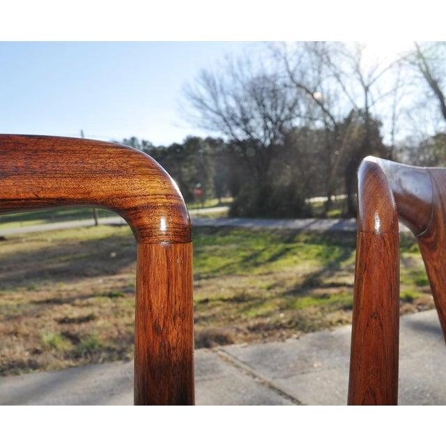 1960s Vintage Johannes Andersen Brazilian Rosewood Danish Chairs- Set of 4 For Sale In Atlanta - Image 6 of 11