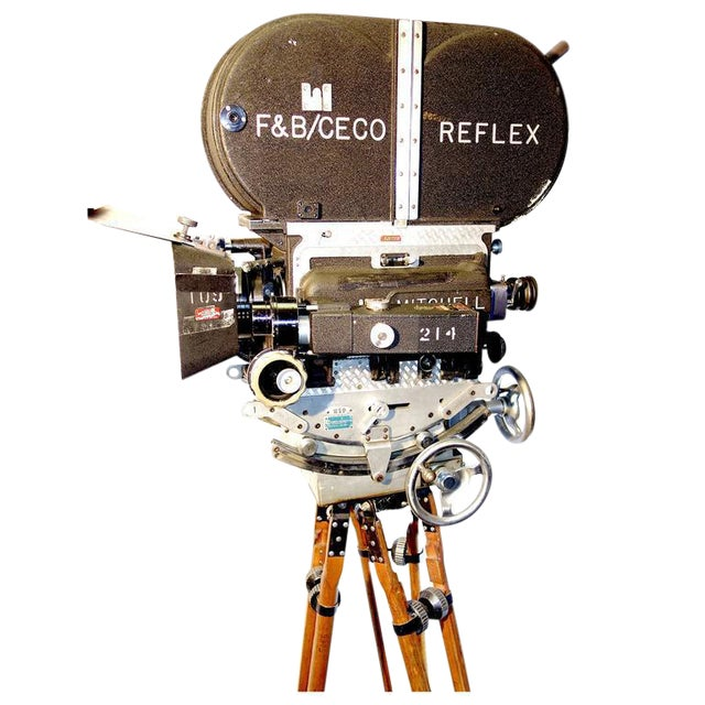 Rare Mitchell 35mm Antique Feature Cinema Camera Package As Sculpture For Sale