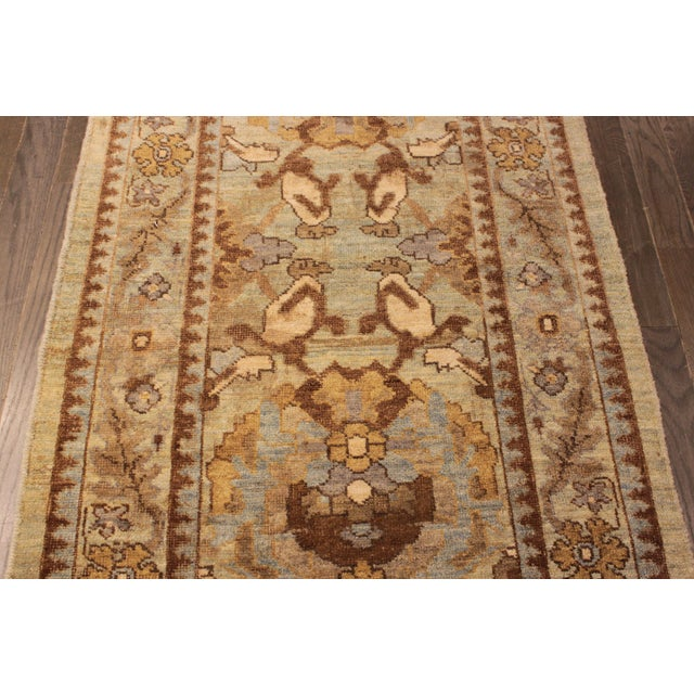 """Persian Sultanabad Rug - 3'2"""" x 13'9"""" - Image 8 of 10"""