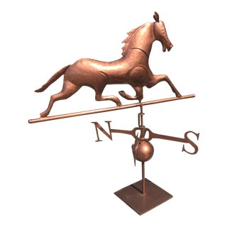 Copper Horse Outdoor Weathervane For Sale