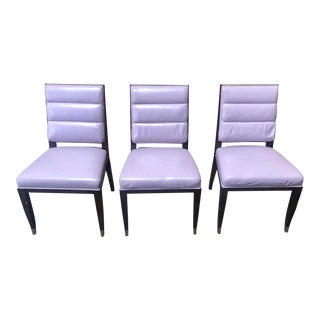 Lucien Rollin Collection Aubusson Dining Chairs- Set of 3 For Sale
