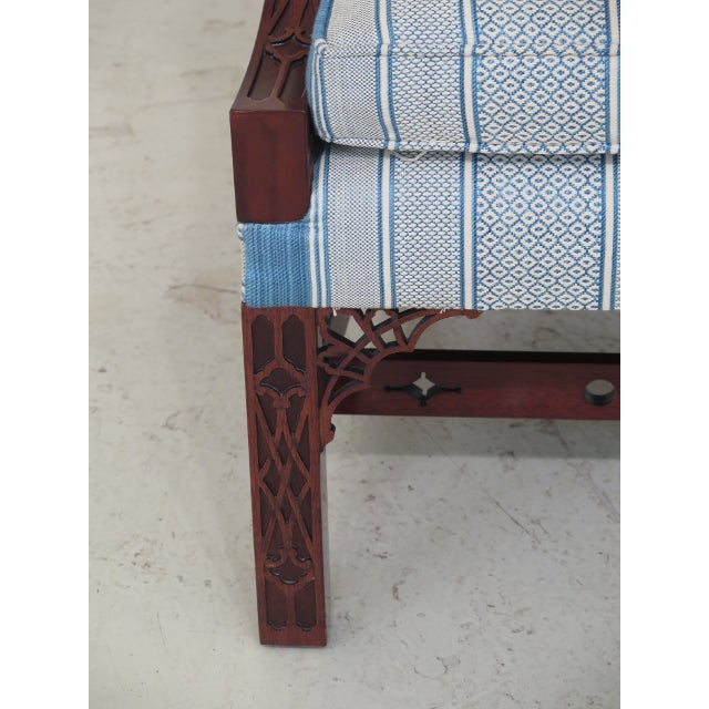 Modern Kindel Chippendale Mahogany Upholstered Chairs- A Pair For Sale - Image 10 of 13